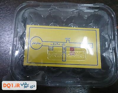 ظرف بسته بندی نواری 12 عددی تخم بلدرچین