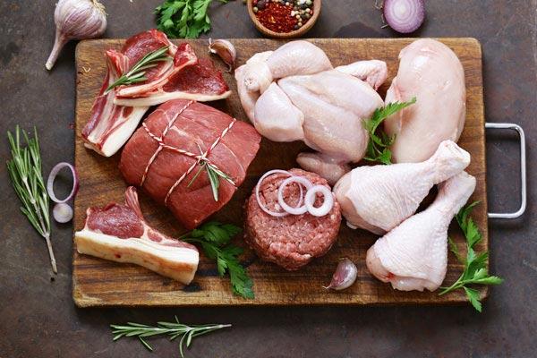 مزاج گوشت مرغ و گوشت قرمز